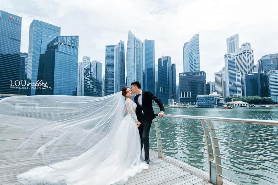 tòa nhà hiện đại của Singapore