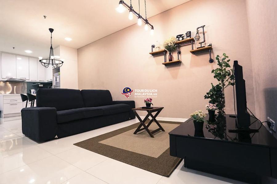 căn hộ du lịch Kuala Lumpur 2 phòng ngủ cho 7 khách