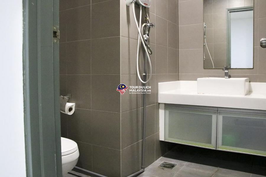 căn hộ suite 2 phòng ngủ đủ tiện nghi cho 5 người, căn hộ du lịch ở Kuala Lumpur
