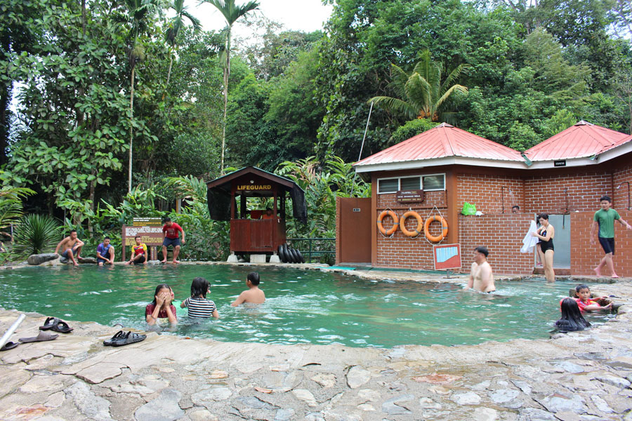tắm khoáng nóng du lịch núi kota kinabalu