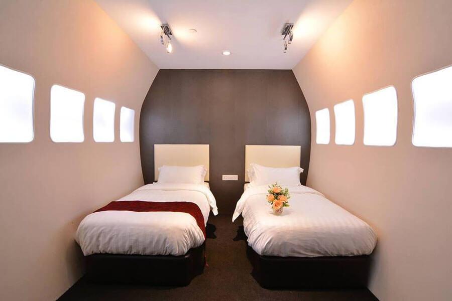 Sri -Langit -Hotel - khach- san- 3- sao -đuoc -xay -dung -theo -chu- de-hang -khong -dau- tien -tai -Malaysia